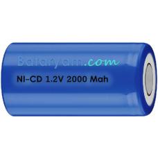 Ni-Cd  SUB C 2000mAh Endüstriyel Hücre